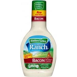 2 Bottles of Hidden Valley Ranch Dressing, Original with Bacon, 16 Oz