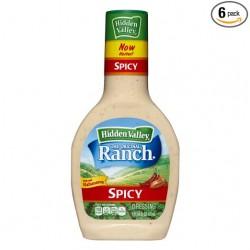 2 Bottles of Hidden Valley Original Ranch Dressing, Spicy, 16 Fluid Ounce