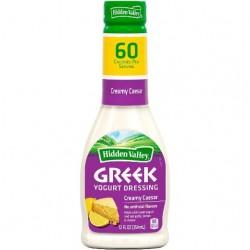2 Bottles of Hidden Valley Greek Yogurt Salad Dressing Creamy Caesar 12 Ounce