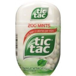 3 Bottles of Tic Tac Fresh Mint Bottle 3.4 Ounce
