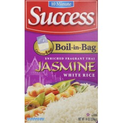 2 Boxes of Success Boil in Bag Jasmine Rice 14 oz