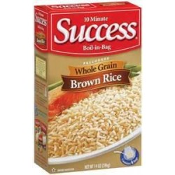 2 Boxes of SUCCESS RICE BROWN WHOLE GRAIN BOIL IN BAG 14 OZ