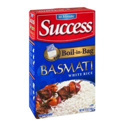 2 Boxes of Success Boil-in-Bag Basmati White Rice, 4 Count