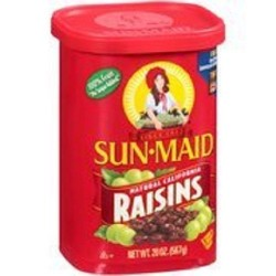 2 Cans of Sun-Maid Natural California Raisins, 20 Ounce