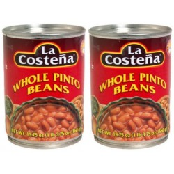 4 Cans of La Costeña Pinto Beans-whole 19.75 Ounce