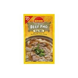 3 Packs of Sun-Bird Vietnamese Beef Pho Soup Mix 1.05 Ounce