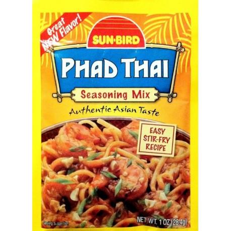 3 Packs of Sun-Bird PHAD THAI Asian Seasoning Mix 1 Ounce