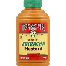 Beaver Brand Extra Hot Sriracha Mustard, 12 Ounce