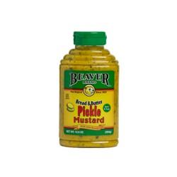 Beaver Brand Bread & Butter Pickle Mustard 12.5 Ounce