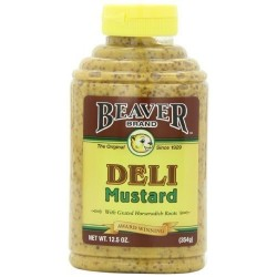 2 Bottles of BEAVER Deli Mustard 12.5 Ounce