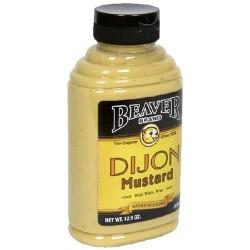 2 Bottles of Beaver Dijon Hot Mustard with Wine, 12.5 Ounce