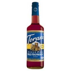 Torani Sugar Free Red Raspberry Syrup, 750ml Bottle