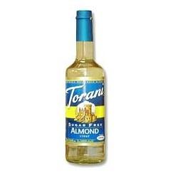 Torani Sugar Free Almond Syrup (1 Single 750 ml bottle)