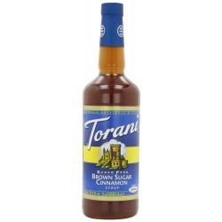 Torani Sugar Free Syrup, Brown Sugar Cinnamon, 33.8 Ounce