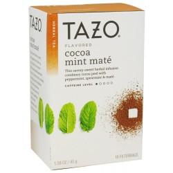 Tazo Cocoa Mint Mate Tea, 16 Bags [Pack of 3]