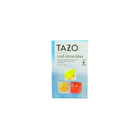 Tazo Iced Citrus Bliss Tea 6 bags per box - Receive (Pack of 2)