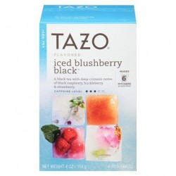 Tazo Iced Blushberry Black Tea, 6 bags ( pack of 2)