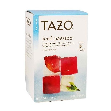 Tazo Iced Tea Passion 6 Bags (Case of 2)