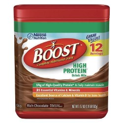 Boost High Protein Complete Nutritional Drink Mix, Rich Chocolate 17.7 oz