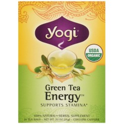 Yogi Tea Green Tea Energy, Herbal Supplement, Tea Bags, 16 ct
