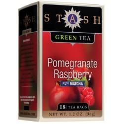 Stash Tea Pomegranate Raspberry Green Tea, 18 Count Tea Bags in Foil