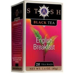 Stash Tea English Breakfast Black Tea, 20 Count Tea Bags in Foil