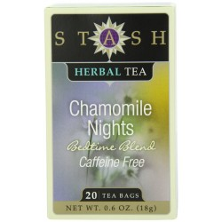 Stash Tea Chamomile Nights Herbal Tea, 20 Count Tea Bags in Foil