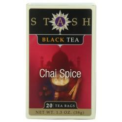 Stash Tea Chai Spice Black Tea, 20 Count Tea Bags in Foil