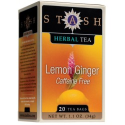 Stash Tea Lemon Ginger Herbal Tea, 20 Count Tea Bags in Foil