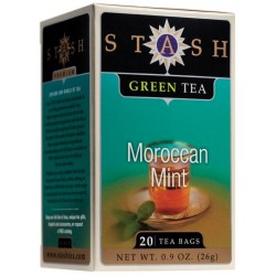Stash Tea Moroccan Mint Green Tea, 20 Count Tea Bags in Foil