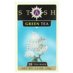 Stash Tea Jasmine Blossom Green Tea, 20 Count Tea Bags in Foil