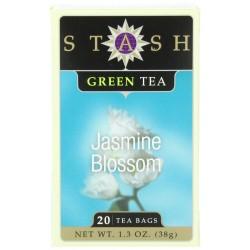 Stash Tea Jasmine Blossom Green Tea, 20 Count Tea Bags in Foil