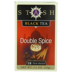 Stash Tea Double Spice Chai Black Tea, 18 Count Tea Bags in Foil