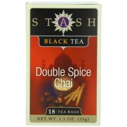 Stash Tea Double Spice Chai Black Tea, 18 Count Tea Bags in Foil
