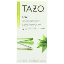 Tazo Zen Filter Bag Tea, 24-Count Package