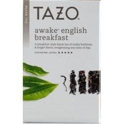 Tazo Awake English Breakfast  Tea ,20 Filter bags per box