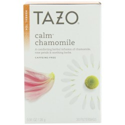 Tazo Calm Herbal Infusion Tea, Caffeine Free, 20-Count Tea Bags