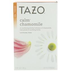 Tazo Calm Herbal Infusion Tea, Caffeine Free, 20-Count Tea Bags
