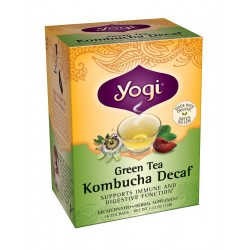 Yogi Kombucha Decaf Green Tea, 16 Tea Bags