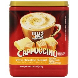 Hills Bros Cappuccino White Chocolate Caramel, 16 oz.