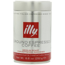 illy Caffe (Medium Roast, Ground coffee Red Band), 8.8-Ounce Tins