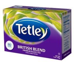 Tetley British Blend Premium Black, 80-Count Tea Bags