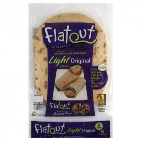 Flatout Light Flatbread Low Fat, Original Wraps, 11.2 Oz