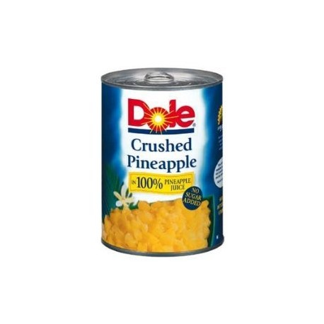 Dole Crushed Pineapple in 100% Juice, No Sugar Added 20 Oz