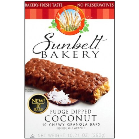 Sunbelt Bakery Fudge Dipped Coconut Chewy Ganola Bars 10 Ct
