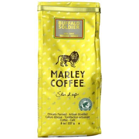 Marley Coffee,  Buffalo Soldier,Stir.it.up,  Ground Coffee, 8 Oz.