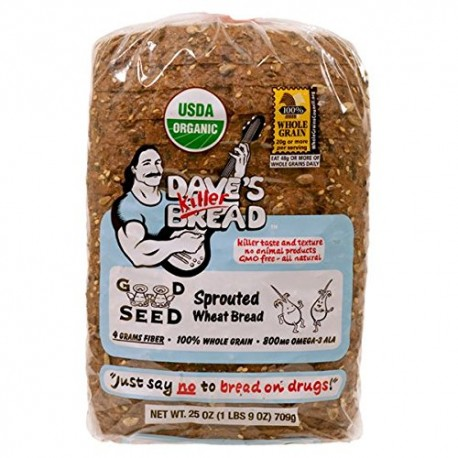 Dave's Killer Bread Bread, Sprouted Wheat, Organic (Pack of 2)