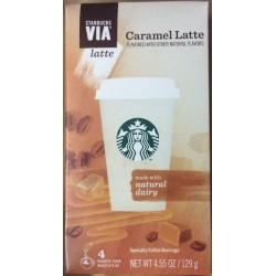 Starbucks Via Caramel Latte 4 Packets