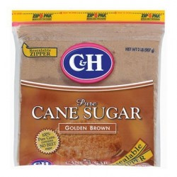 C&H, Cane Sugar, Golden Brown, 2 lb Bag