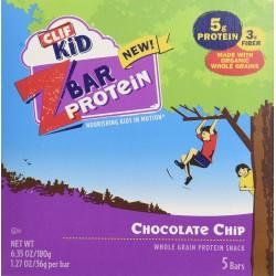 CLIF KID ZBAR PROTEIN - Protein Bar - Chocolate Chip, 1.2 oz, 5 Count)